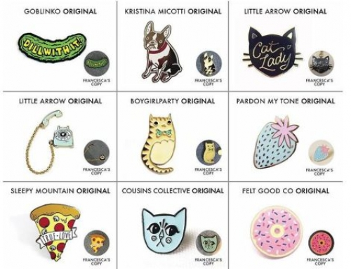 Artists and Designers Bring Copyright Infringement Suit Against Retailer Francesca's for Theft of Enamel Pin Designs